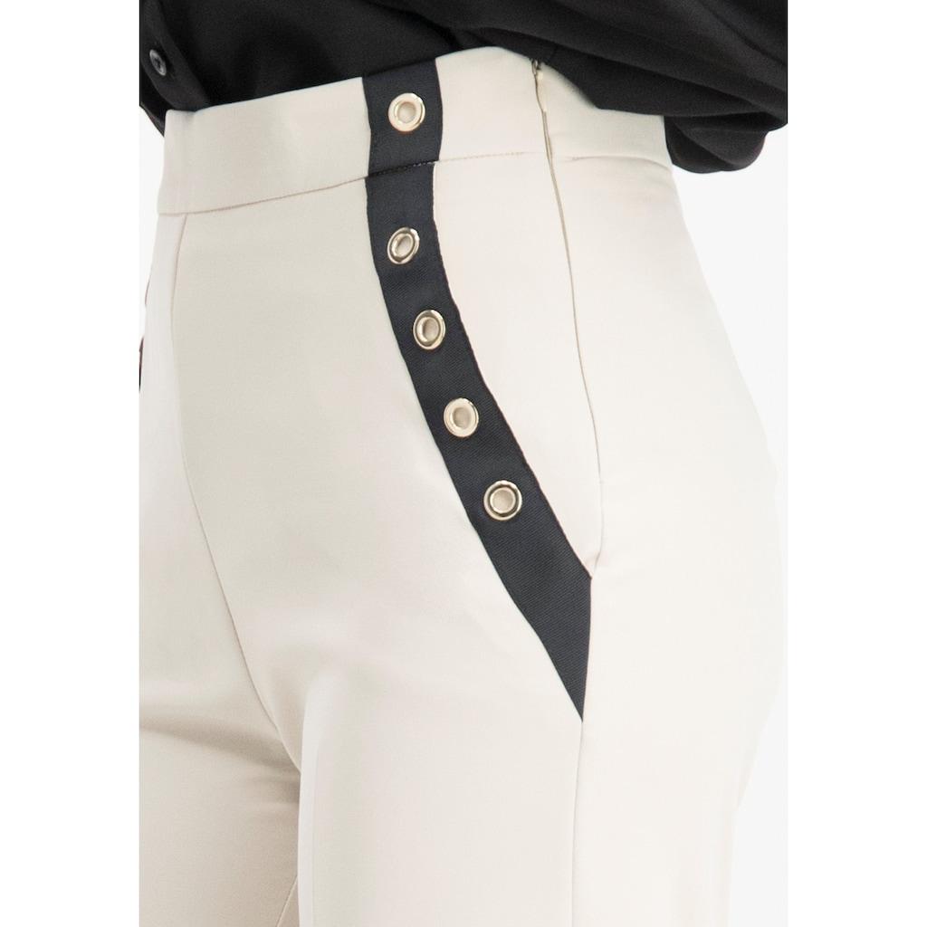 Nicowa Elegante Taillenbund Hose OFIDE mit weitem Bein