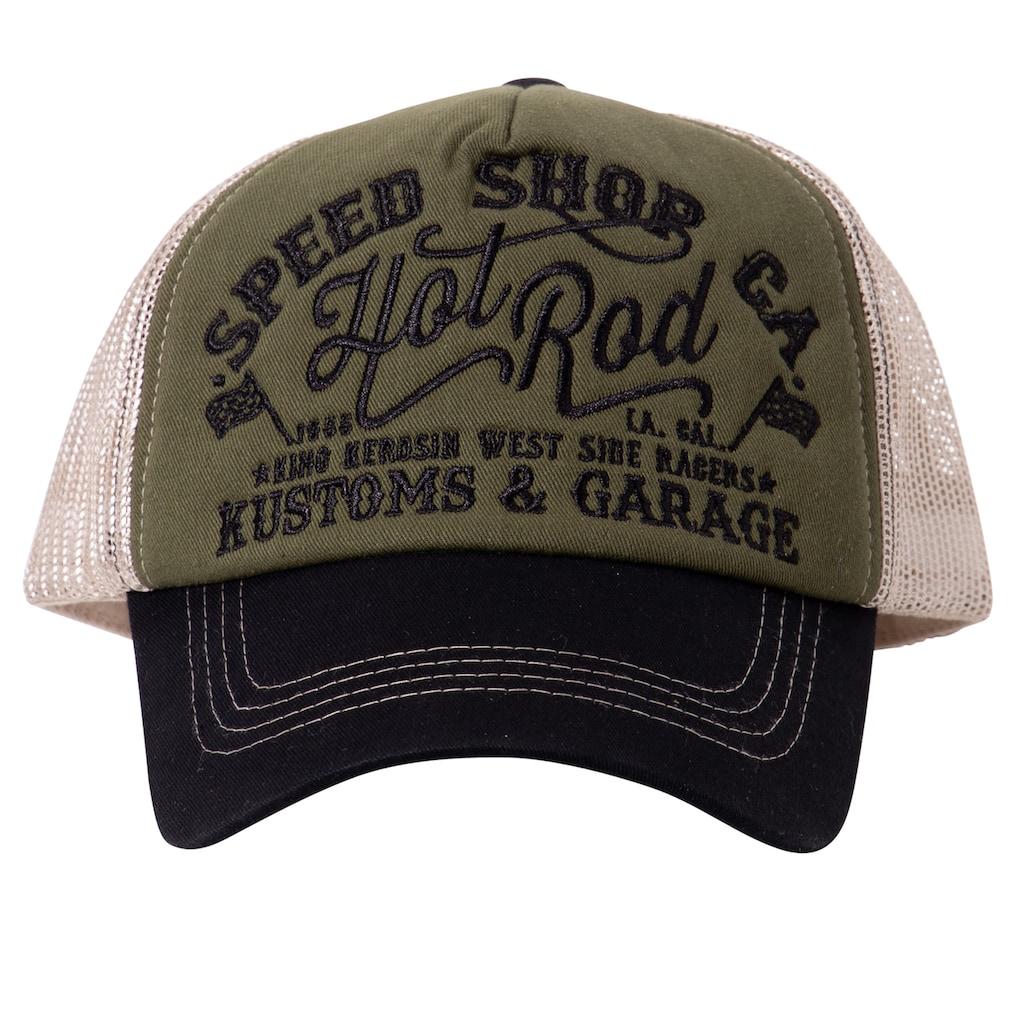 KingKerosin Trucker Cap »Hot Rod«, mit Front-Stickerei