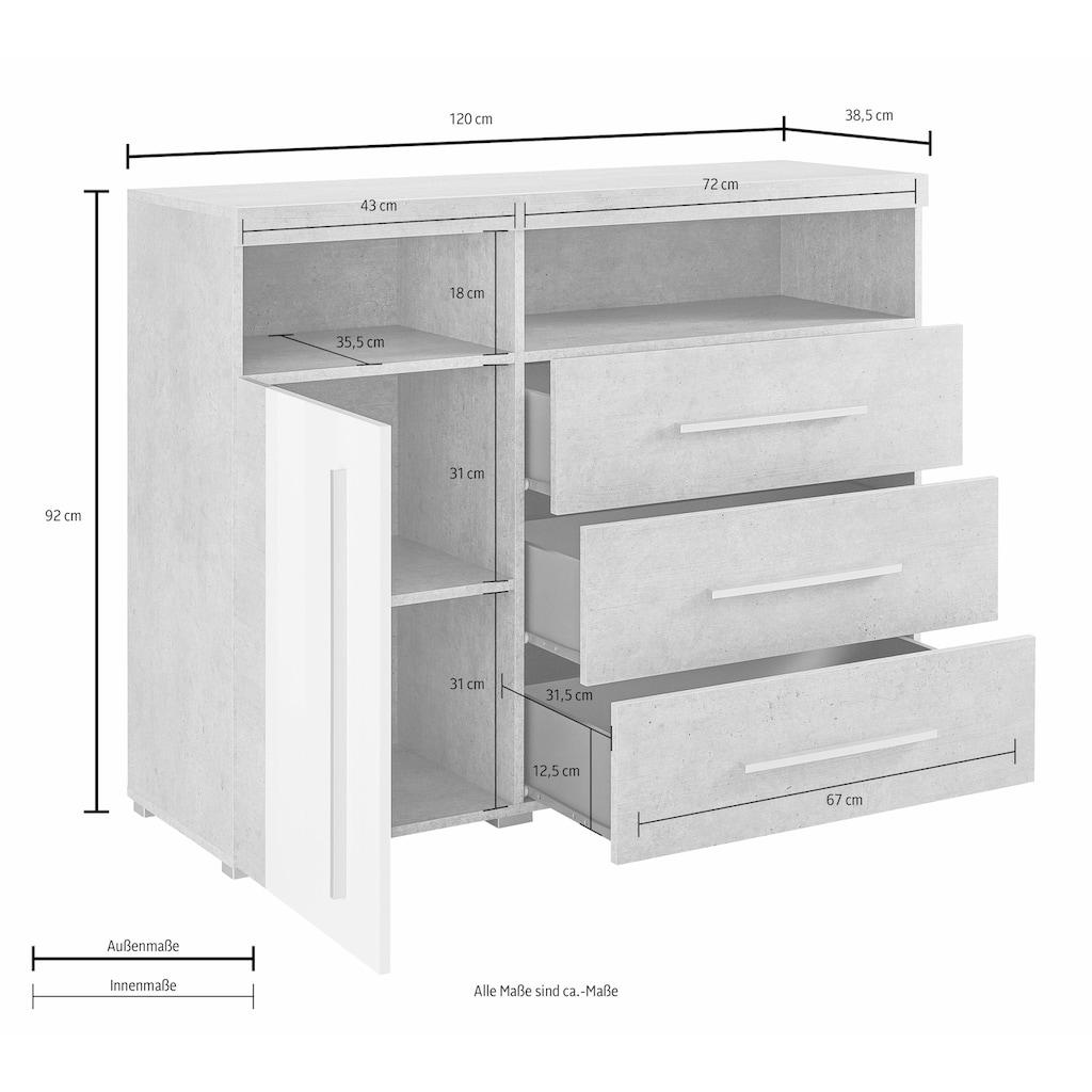 TRENDMANUFAKTUR Sideboard »Roger«, Breite 120 cm