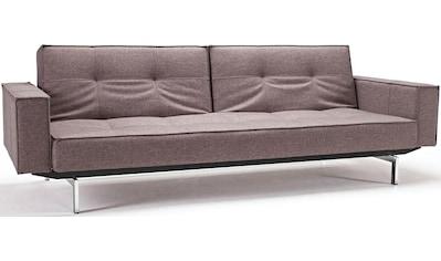 INNOVATION LIVING ™ Sofa »Splitback«, mit Armlehne und chromglänzenden Beinen, in skandinavischen Design kaufen