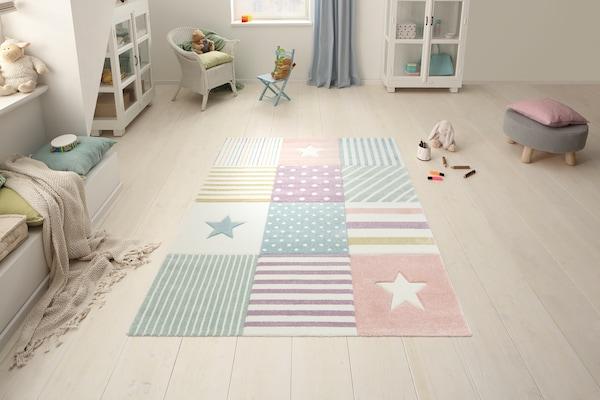 bunter Kinderteppich
