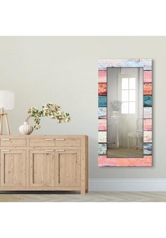 Artland Wandspiegel »Bunte Holzplanken« kaufen