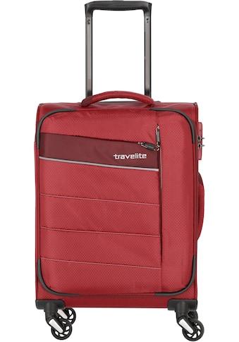 travelite Weichgepäck-Trolley »Kite rot, 54 cm«, 4 Rollen kaufen