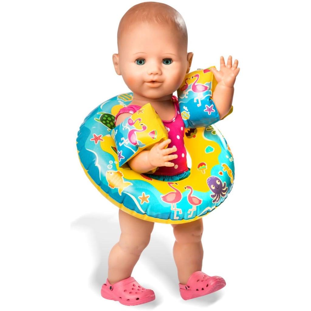 Heless Puppenkleidung »Puppenschwimmset mit Badeanzug und Zubehör«, (Set, 6 tlg.)