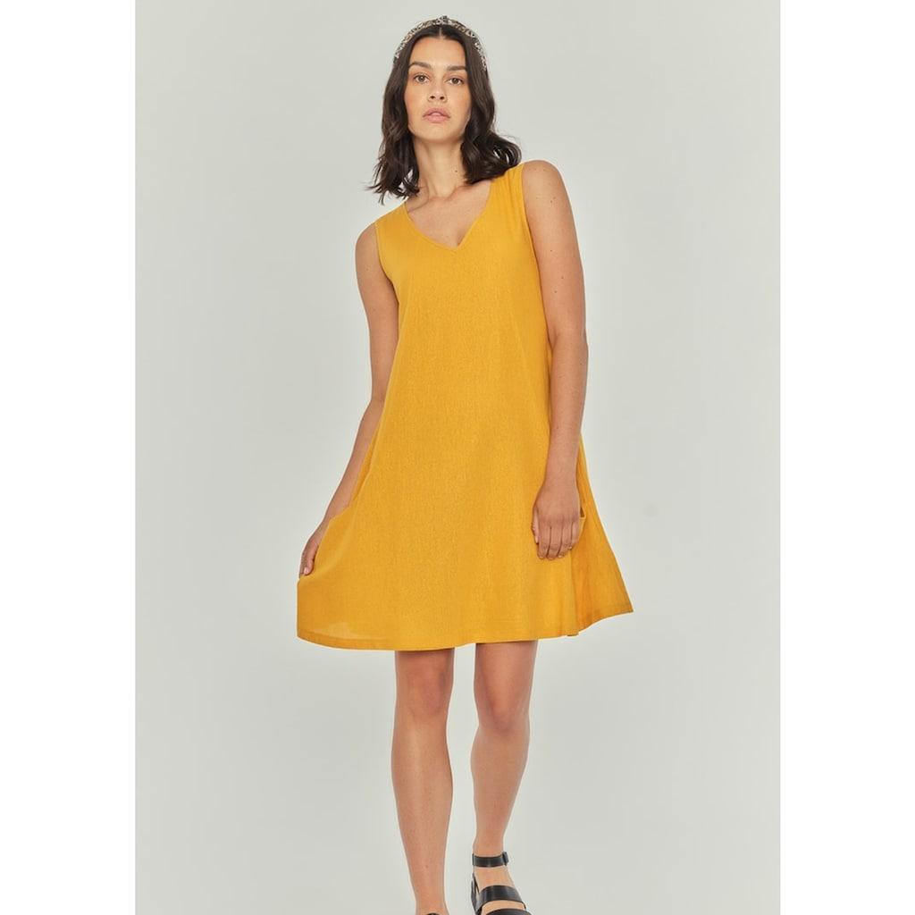 Apricot Sommerkleid »Plain 2 Pocket Bakery Dress«, in leichter Leinenmischung