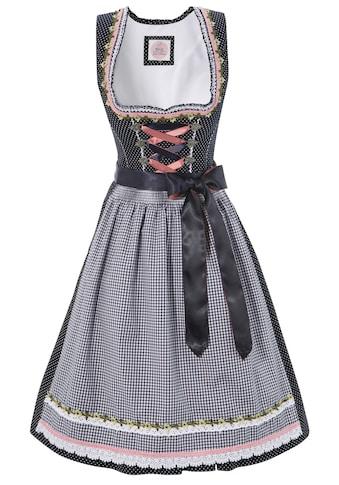 MarJo Dirndl »Ulli«, (2 tlg.), kurz mit herzförmigem Ausschnitt mit Borten und Rüschen kaufen