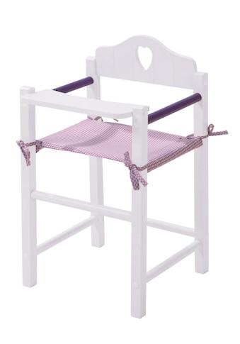 roba® Puppenhochstuhl »Fienchen - Weiß-Lila« kaufen