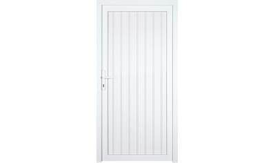 KM Zaun Nebeneingangstür »K608P«, BxH: 108x208 cm cm, weiß, links kaufen