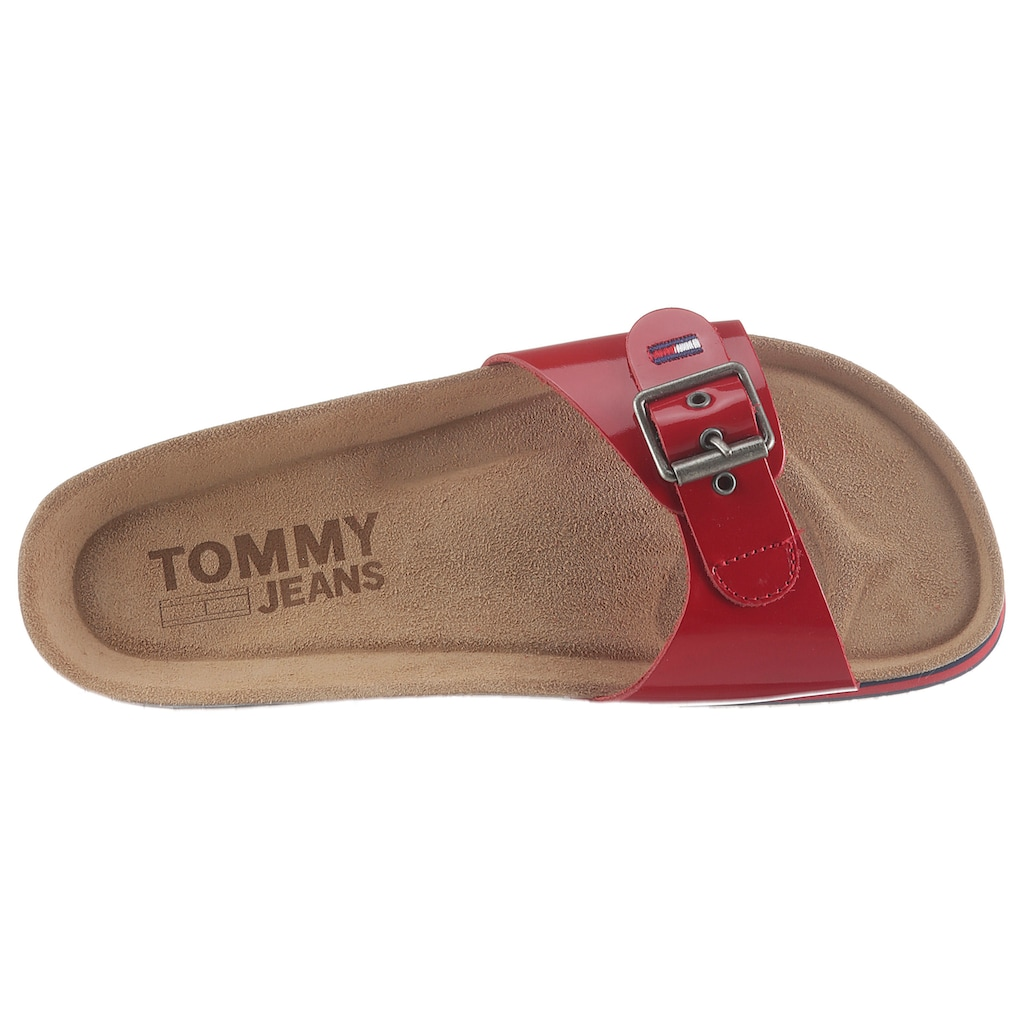 Tommy Jeans Pantolette »FLAG OUTSOLE MULE«, mit farbiger Plateausohle