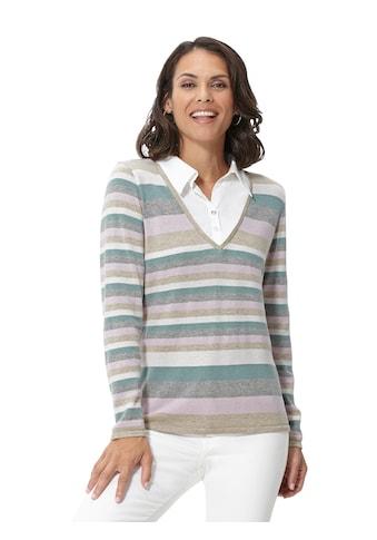 Casual Looks  Pullover im leicht melierten Ringeldessin kaufen
