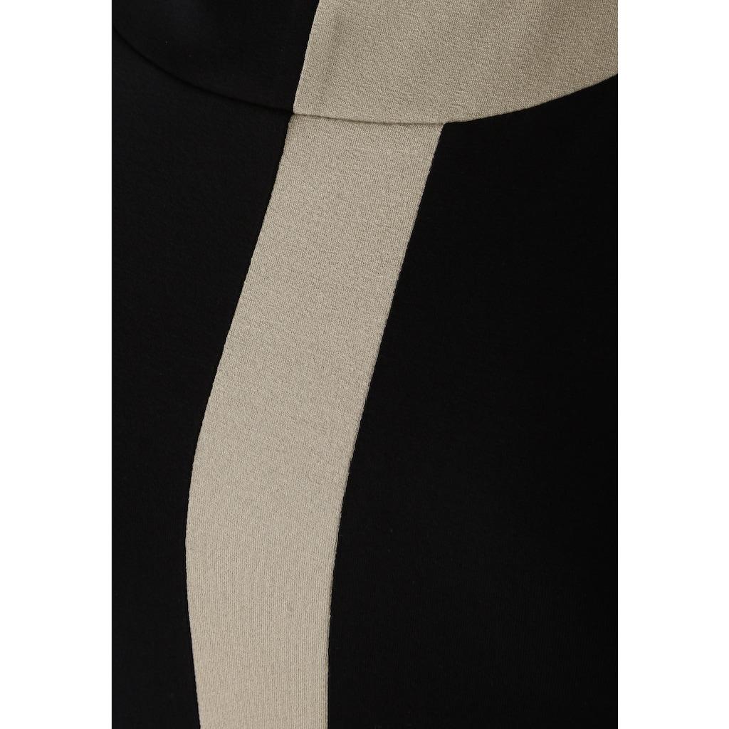Doris Streich Tunikashirt »mit Kontraststreifen«, Dekorative Nähte