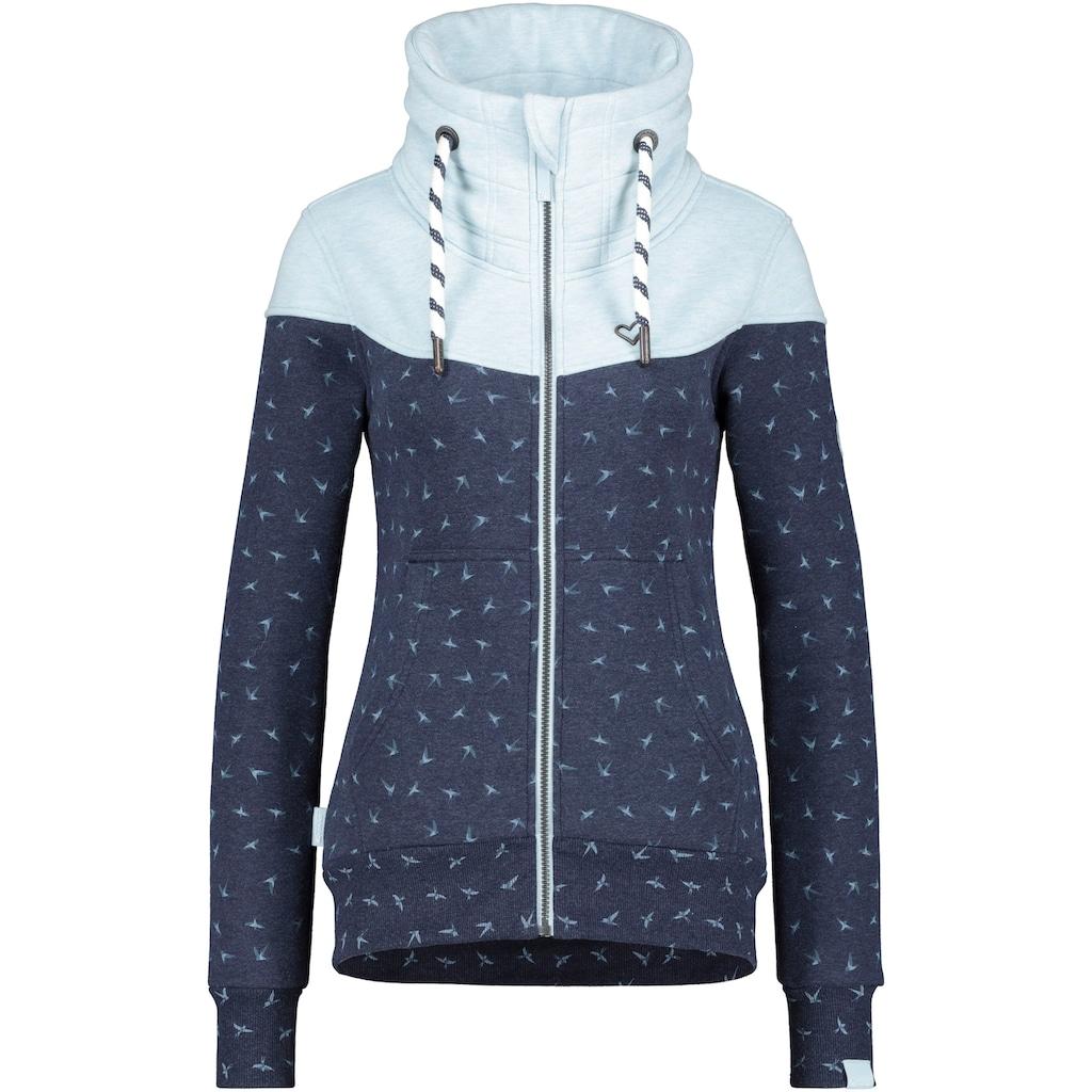 Alife & Kickin Sweatjacke »ValinaAK«, sportive Jacke mit hohem extradicken Stehkragen& dicken Kordeln