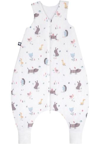 Julius Zöllner Babyschlafsack, mit Beinen Jersey Jumper Crazy Animals kaufen