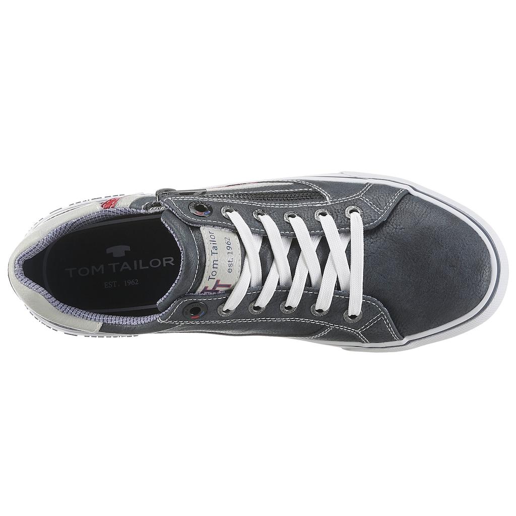TOM TAILOR Sneaker, mit Kontrastbesatz