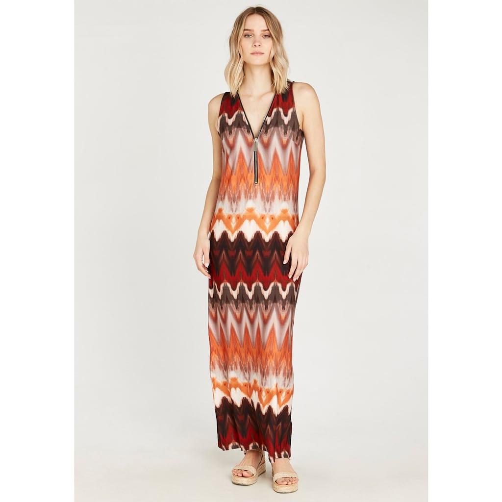 Apricot Maxikleid »Chevron Zip Front Maxi Dress«, mit Reißverschluss am Ausschnitt