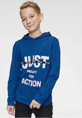 Arizona Kapuzenshirt »Just ready for action« kaufen