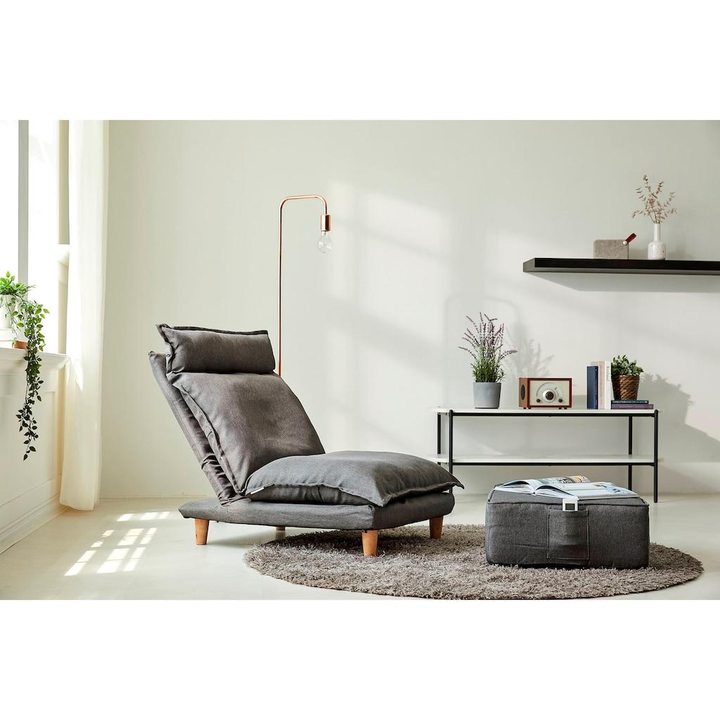 SalesFever Loungeset, (Set, 2 St., Sessel mit Hocker), mit Liegefunktion, Relaxsessel, Loungesessel