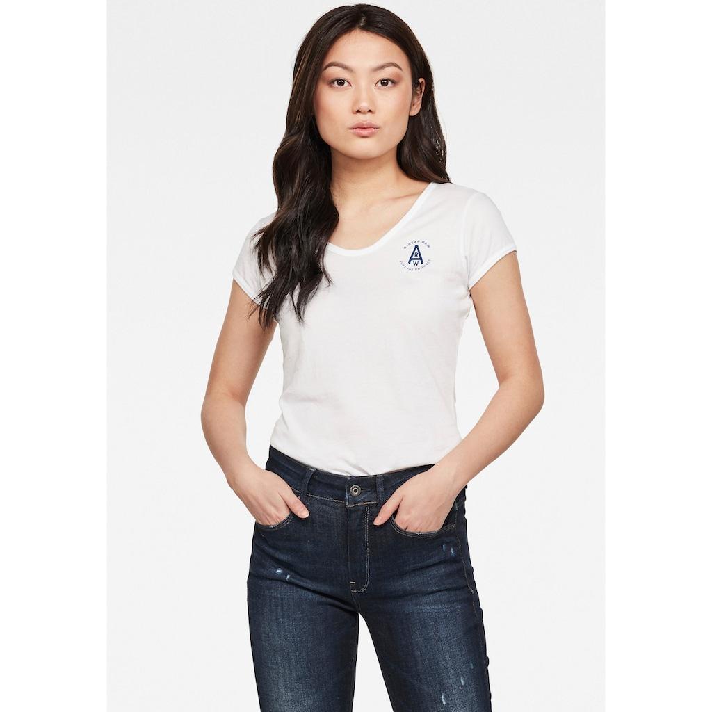 G-Star RAW V-Shirt »Circle gr eyben ringer slim«, mit V-Ausschnitt
