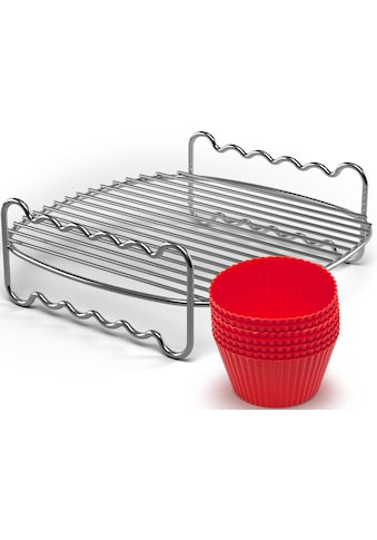 Philips Grillrost »+ Muffincups, HD9904/01 Party-Kit«, Edelstahl-Silikon, passend für... kaufen