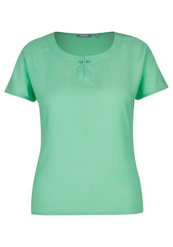 Rabe T - Shirt mit Uni - Design und Spangendetail kaufen