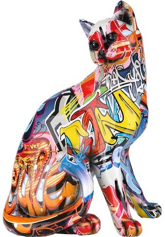 GILDE Dekofigur »Figur Pop Art Katze«, Dekoobjekt, Tierfigur, Höhe 29 cm, Wohnzimmer kaufen