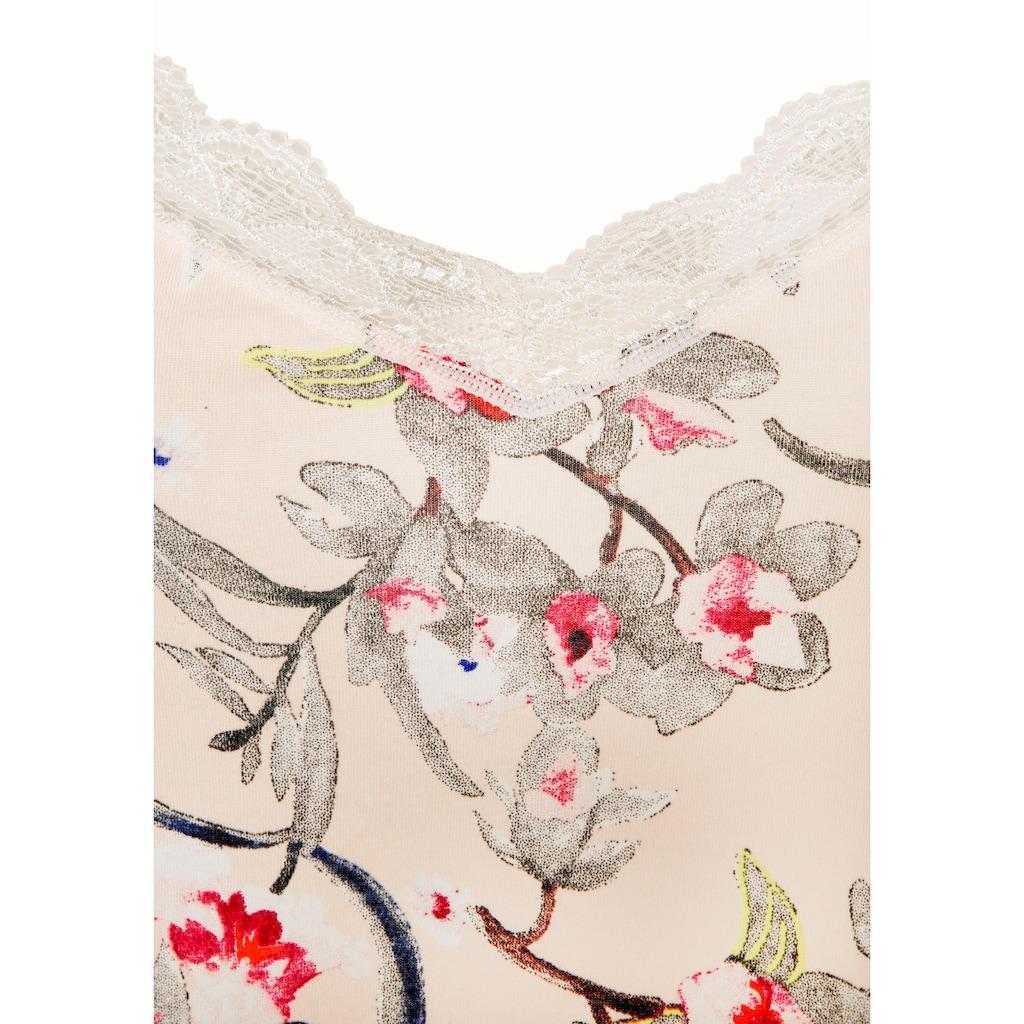 s.Oliver Negligé, mit Blumenmuster