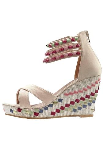 LASCANA High-Heel-Sandalette, mit verziertem Keilabsatz kaufen