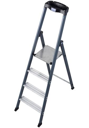KRAUSE Stehleiter »SePro S«, Alu eloxiert, 1x4 Stufen, Arbeitshöhe ca. 285 cm kaufen