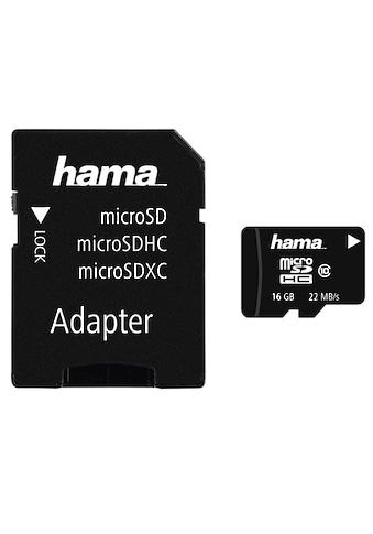Hama Speicherkarte, ( Class 10 ), 16 GB Class 10, 22 MB/s + Adapter/Foto kaufen