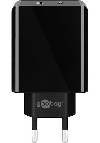 Goobay Schnelllade-Gerät »Charger für USB Typ C und Typ A, 18W, Schwarz«, Dual USB-C... kaufen