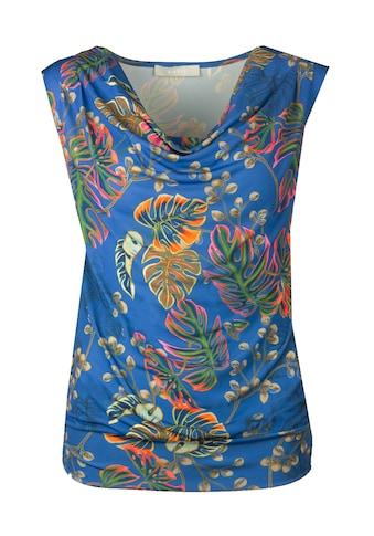 bianca Print-Shirt »TILA«, mit leichtem Wasserfallkragen und Allover Print kaufen