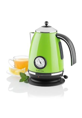 Klarstein Wasserkocher Teekessel 1,7l 2200W grün »Aquavita Chalet« kaufen