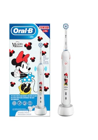 Oral B Elektrische Kinderzahnbürste »Junior Minnie Mouse«, 1 St. Aufsteckbürsten kaufen