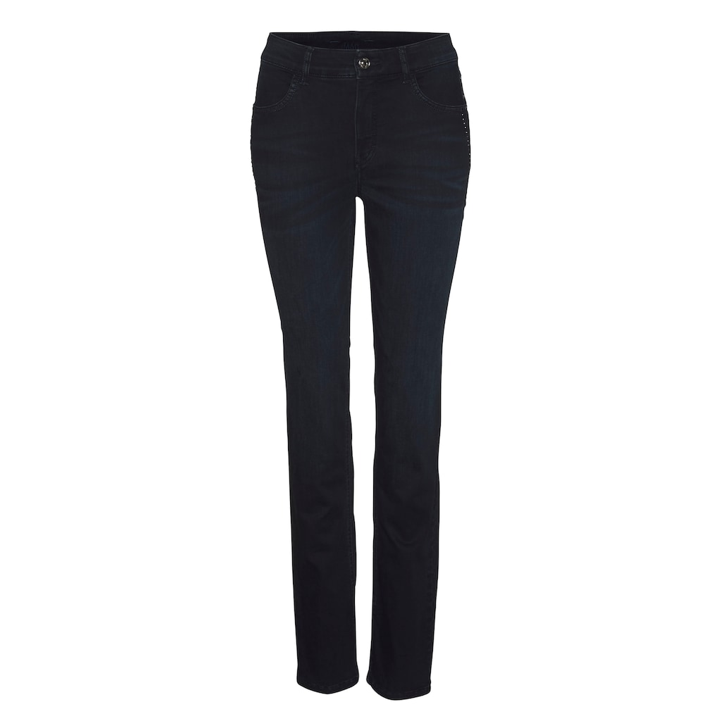 MAC Slim-fit-Jeans »Melanie Rock«, Nieten-Besätze an den vorderen Taschen