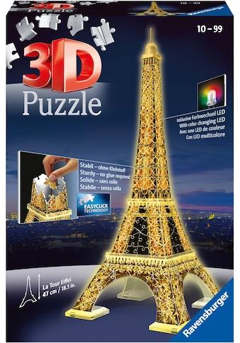 Ravensburger 3D-Puzzle »Eiffelturm bei Nacht«, mit Leuchtmodul inkl. LEDs; Made in Europe, FSC® - schützt Wald - weltweit kaufen