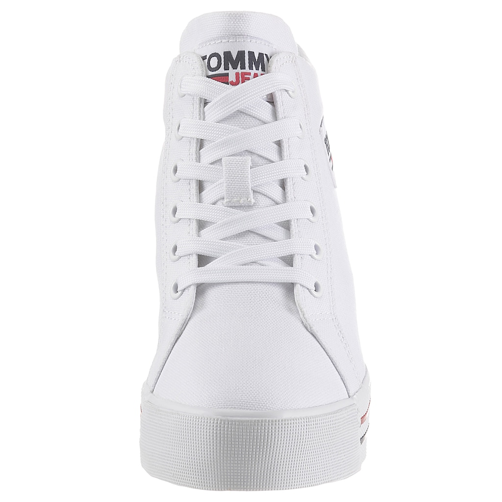 TOMMY JEANS Wedgesneaker »TOMMY JEANS WEDGE SNEAKER«, mit Logoschriftzug