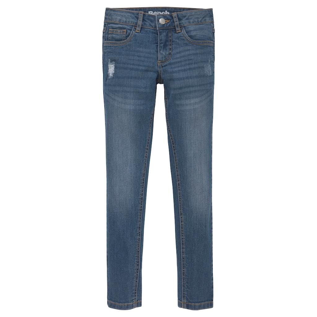 Bench. Stretch-Jeans, mit dezenten Abriebeffekten in Super Skinny