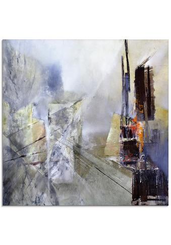 Artland Glasbild »Abstrakte Komposition in weiß«, Gegenstandslos, (1 St.) kaufen