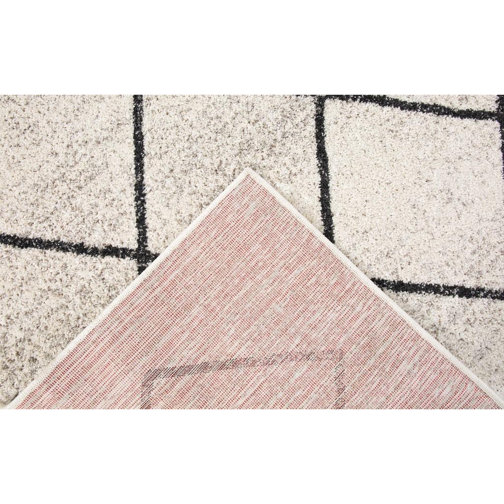 Andiamo Teppich »Bolonia«, rechteckig, 6 mm Höhe, Rauten Design, leicht meliert, Wohnzimmer