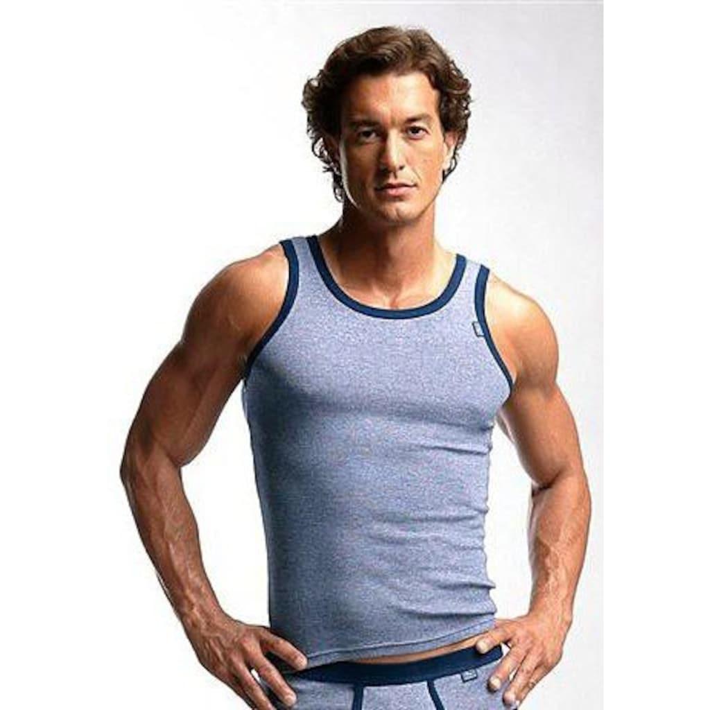 Clipper Exclusive Unterhemd, modische Optik: Jeans meliert, tolle Baumwoll-Qualität