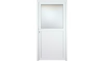 KM Zaun Nebeneingangstür »K602P«, BxH: 98x208 cm cm, weiß, rechts kaufen
