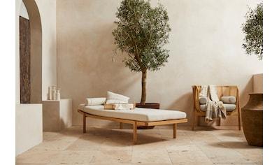 LeGer Home by Lena Gercke Polsterbank »Celia«, mit Polsterauflage und Kissenrolle, Relaxliege mit Massivholzgestell Daybett kaufen