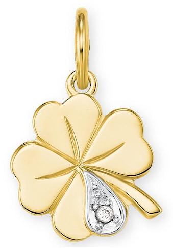Amor Kettenanhänger »Kleeblatt, 9038923«, mit Diamant kaufen