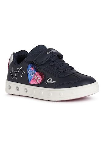 Geox Kids Sneaker »Blinkschuh SKYLIN GIRL«, mit süßer Herz-Applikation kaufen