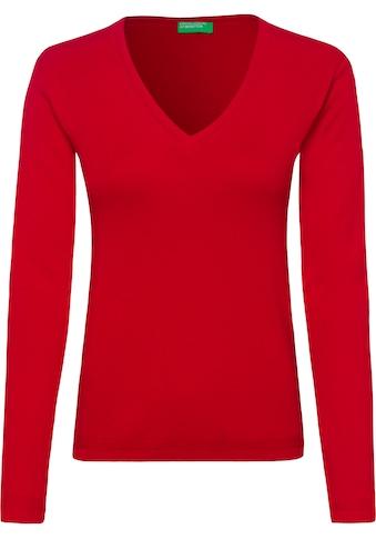 United Colors of Benetton V-Ausschnitt-Pullover kaufen