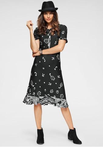 Boysen's Jerseykleid, mit neuem Bordürendruck und Volants kaufen