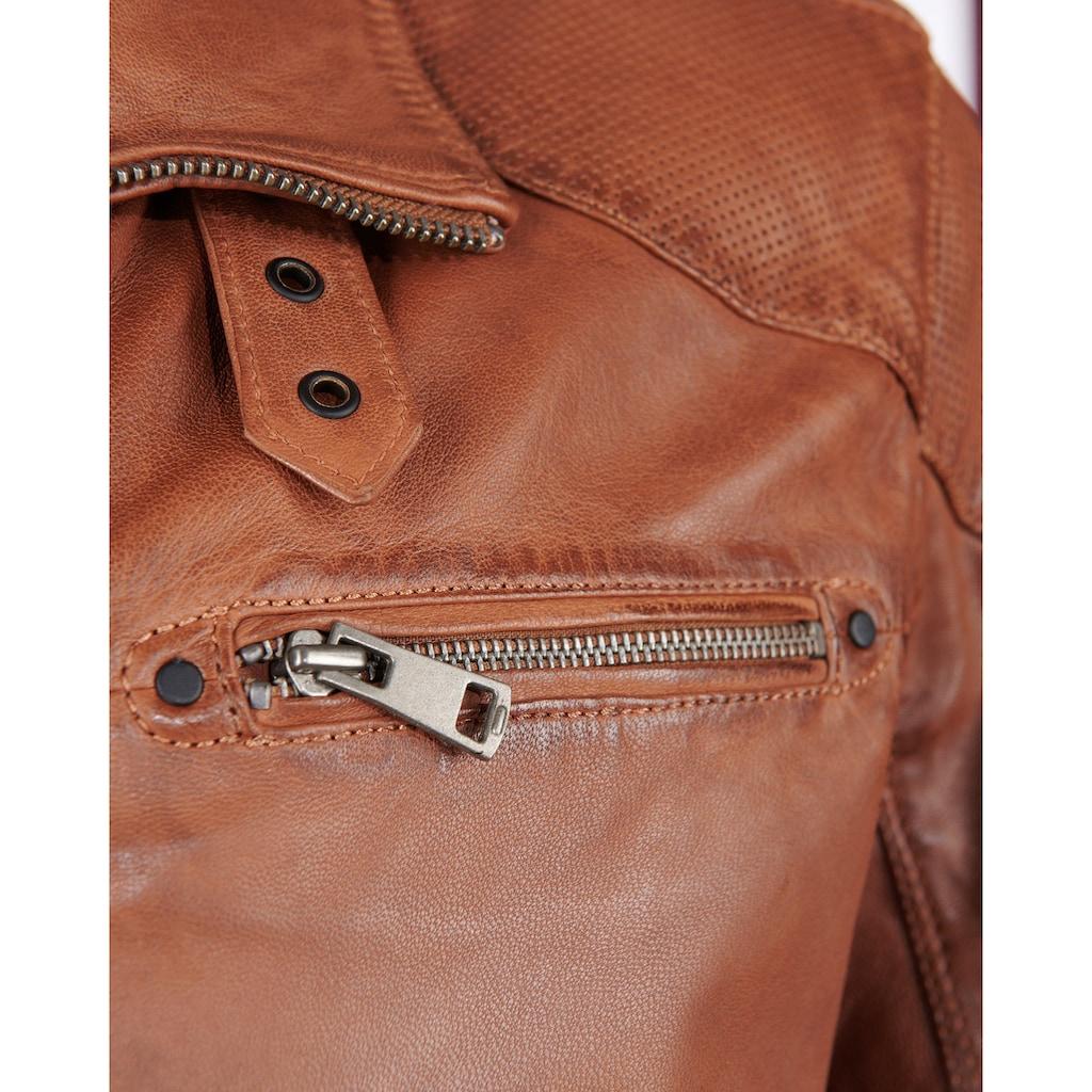 JCC Lederjacke »51195«, Herrenlederjacke mit Verschlussschnalle