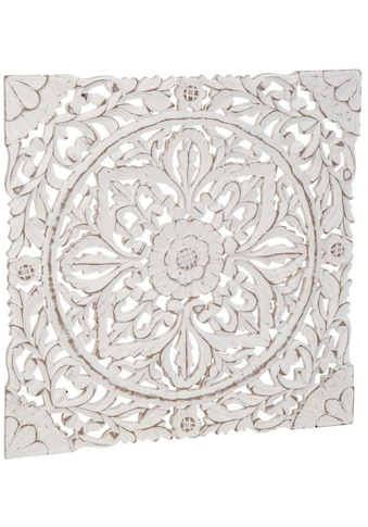 Schneider Wanddekoobjekt »Holz-Ornamentik«, Wanddeko, Ornament, weiß kaufen