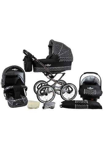 bergsteiger Kombi-Kinderwagen »Venedig, black & white dots, 3in1«, 15 kg, Made in... kaufen