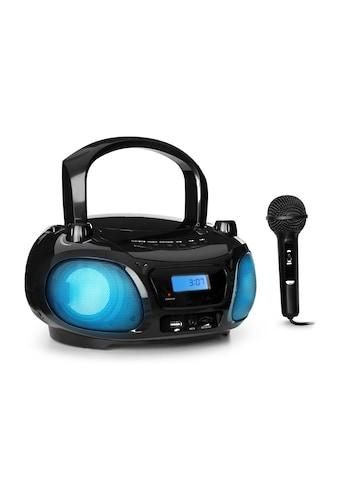 Auna Sing CD Boombox UKW-Radio Lichtshow CD-Player Mikrofon kaufen